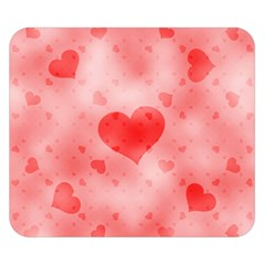 Soft Hearts B Double Sided Flano Blanket (small)  by MoreColorsinLife
