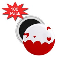 Heart Shape Background Love 1 75  Magnets (100 Pack)
