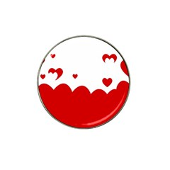 Heart Shape Background Love Hat Clip Ball Marker