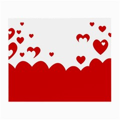 Heart Shape Background Love Small Glasses Cloth