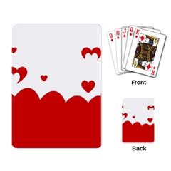 Heart Shape Background Love Playing Card