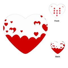 Heart Shape Background Love Playing Cards (heart)
