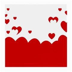 Heart Shape Background Love Medium Glasses Cloth (2 Side)