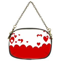Heart Shape Background Love Chain Purses (two Sides)