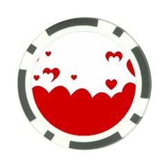 Heart Shape Background Love Poker Chip Card Guard (10 Pack)
