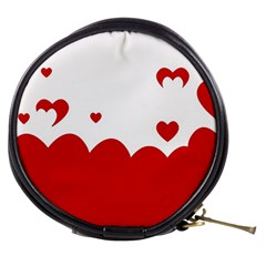 Heart Shape Background Love Mini Makeup Bags