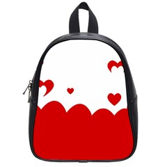 Heart Shape Background Love School Bag (small) by Nexatart