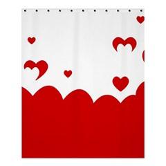 Heart Shape Background Love Shower Curtain 60  X 72  (medium)