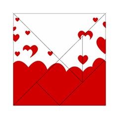 Heart Shape Background Love Acrylic Tangram Puzzle (6  X 6 )