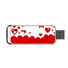Heart Shape Background Love Portable Usb Flash (two Sides)