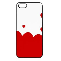 Heart Shape Background Love Apple Iphone 5 Seamless Case (black)