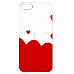 Heart Shape Background Love Apple Iphone 5 Hardshell Case With Stand