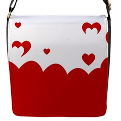 Heart Shape Background Love Flap Messenger Bag (s) by Nexatart
