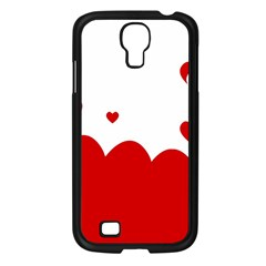 Heart Shape Background Love Samsung Galaxy S4 I9500/ I9505 Case (black)