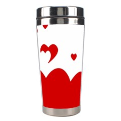 Heart Shape Background Love Stainless Steel Travel Tumblers by Nexatart
