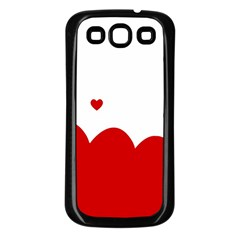 Heart Shape Background Love Samsung Galaxy S3 Back Case (black) by Nexatart