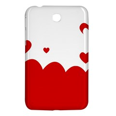 Heart Shape Background Love Samsung Galaxy Tab 3 (7 ) P3200 Hardshell Case