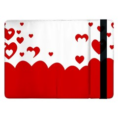 Heart Shape Background Love Samsung Galaxy Tab Pro 12 2  Flip Case