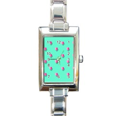 Love Heart Set Seamless Pattern Rectangle Italian Charm Watch