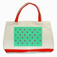 Love Heart Set Seamless Pattern Classic Tote Bag (red)