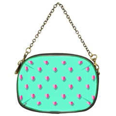 Love Heart Set Seamless Pattern Chain Purses (two Sides)