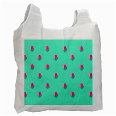 Love Heart Set Seamless Pattern Recycle Bag (one Side)