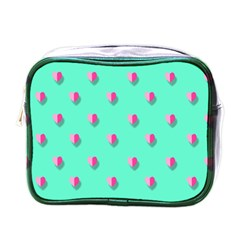 Love Heart Set Seamless Pattern Mini Toiletries Bags