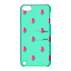 Love Heart Set Seamless Pattern Apple Ipod Touch 5 Hardshell Case With Stand