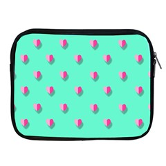 Love Heart Set Seamless Pattern Apple Ipad 2/3/4 Zipper Cases by Nexatart