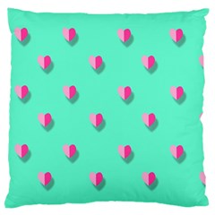 Love Heart Set Seamless Pattern Large Flano Cushion Case (two Sides)