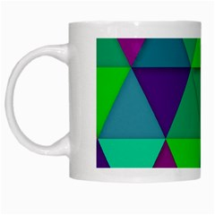 Background Geometric Triangle White Mugs