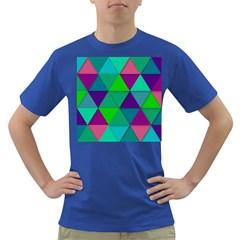 Background Geometric Triangle Dark T Shirt
