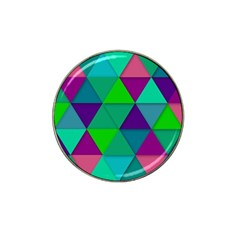 Background Geometric Triangle Hat Clip Ball Marker (4 Pack) by Nexatart
