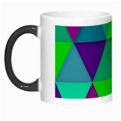 Background Geometric Triangle Morph Mugs
