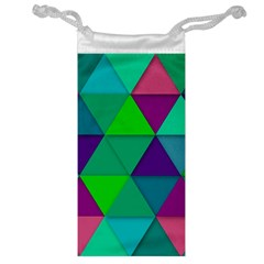 Background Geometric Triangle Jewelry Bag
