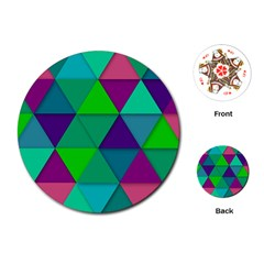 Background Geometric Triangle Playing Cards (round)