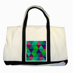 Background Geometric Triangle Two Tone Tote Bag