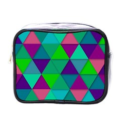 Background Geometric Triangle Mini Toiletries Bags