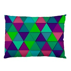 Background Geometric Triangle Pillow Case (two Sides)