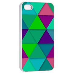 Background Geometric Triangle Apple Iphone 4/4s Seamless Case (white)