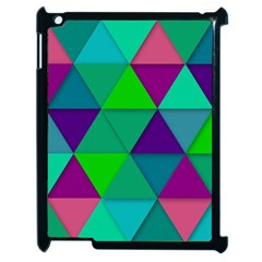 Background Geometric Triangle Apple Ipad 2 Case (black) by Nexatart