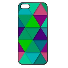 Background Geometric Triangle Apple Iphone 5 Seamless Case (black)