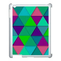 Background Geometric Triangle Apple Ipad 3/4 Case (white)