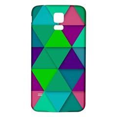 Background Geometric Triangle Samsung Galaxy S5 Back Case (white)