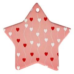 Heart Shape Background Love Ornament (star)
