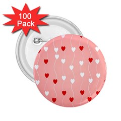 Heart Shape Background Love 2 25  Buttons (100 Pack)