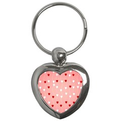 Heart Shape Background Love Key Chains (heart)