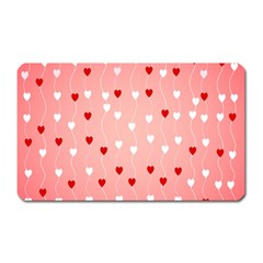 Heart Shape Background Love Magnet (rectangular)