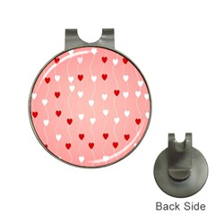Heart Shape Background Love Hat Clips With Golf Markers by Nexatart