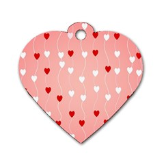 Heart Shape Background Love Dog Tag Heart (two Sides)